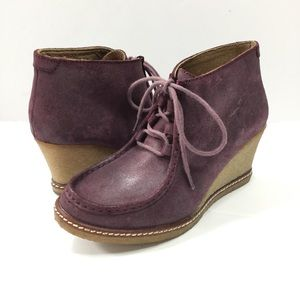 Johnston & Murphy wedge lace up booties